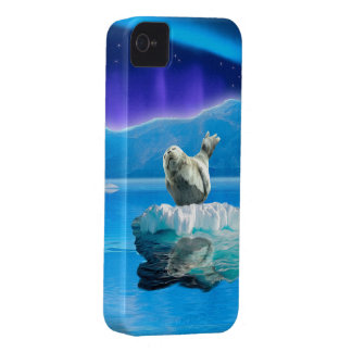 Cute Baby Seal Fantasy Art Wildlife Supporter Case-Mate iPhone 4 Case