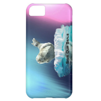 Cute Baby Seal Fantasy Art Wildlife Supporter Cover For iPhone 5C