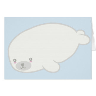 Cute Baby Seal Greeting Card