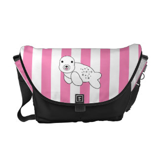 Cute baby seal pup courier bags