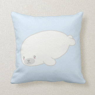 Cute Baby Seal Throw Pillow