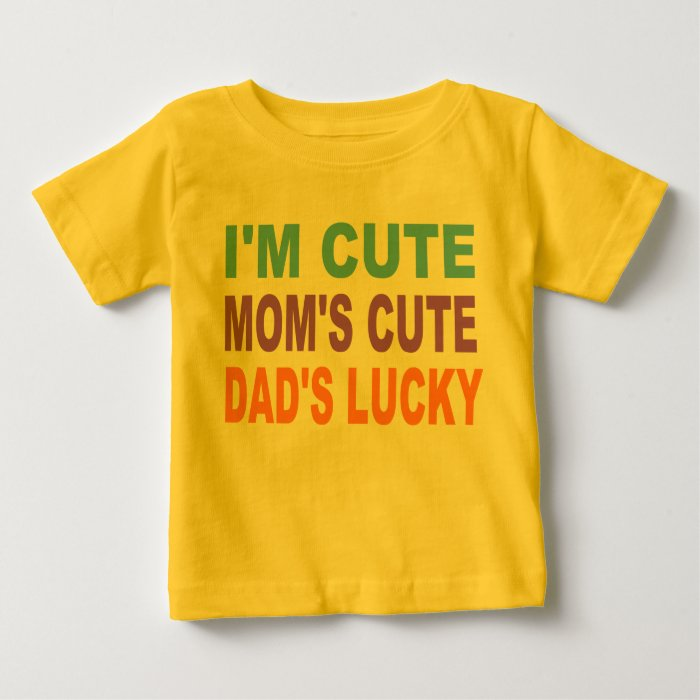 CUTE BABY SHIRT, DAD'S LUCKY BABY T-Shirt