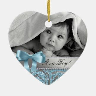 Cute Baby Shower Birth Announcement Gift Zebra Ceramic Ornament