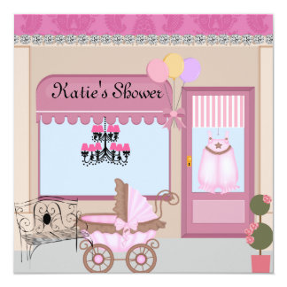 CUTE Baby Shower BLING CHIC Boutique Invitation