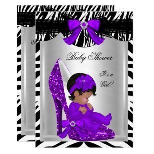 Purple Zebra Baby Shower Decorations  from rlv.zcache.com