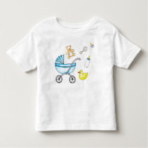 Cute baby shower pattern toddler t-shirt