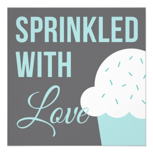 Cute Baby Shower | Sprinkled With Love Custom Invitations