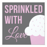 Cute Baby Shower | Sprinkled With Love 5.25x5.25 Square Paper Invitation Card