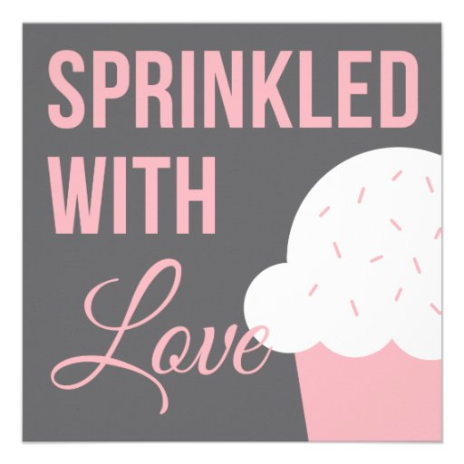 Cute Baby Shower | Sprinkled With Love Personalized Invite