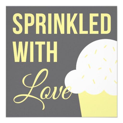 Cute Baby Shower | Sprinkled With Love Custom Invitation
