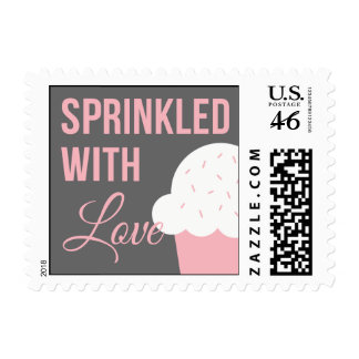 Cute Baby Shower   Sprinkled With Love Postage Stamp