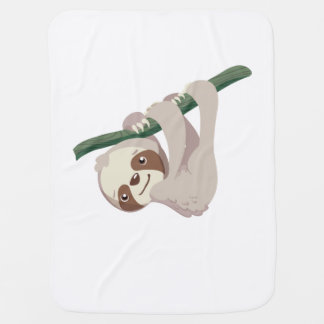 Cute Baby Sloth on a Branch Baby Blanket