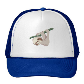 Cute Baby Sloth on a Branch Trucker Hat