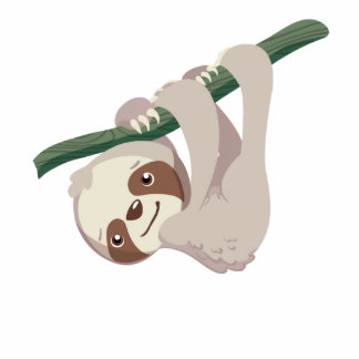 Cute Baby Sloth on a Branch Acrylic Cut Outs