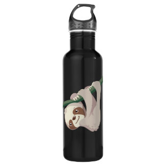 Cute Baby Sloth on a Branch Stainless Steel Water Bottle