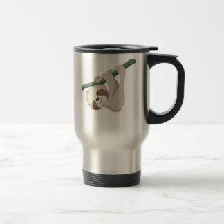 Cute Baby Sloth on a Branch Travel Mug