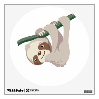 Cute Baby Sloth on a Branch Wall Sticker