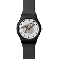 Cute Baby Sloth on a Branch Wristwatch