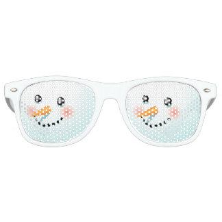 Cute Baby-Snowman With Rosy Cheeks Retro Sunglasses