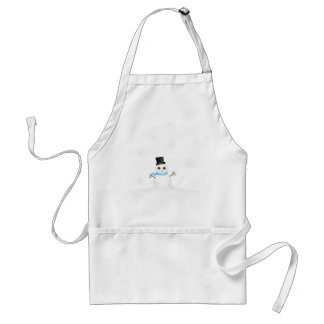 Cute Baby Snowman with Winter Snowflakes Apron