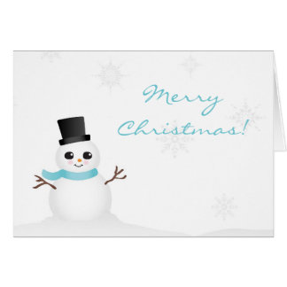 Cute Baby Snowman with Winter Snowflakes Cards