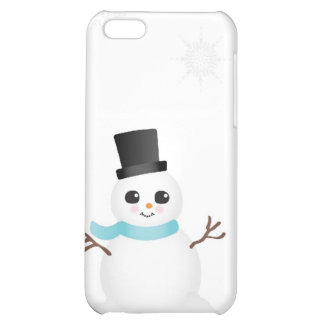 Cute Baby Snowman with Winter Snowflakes iPhone 5C Cases