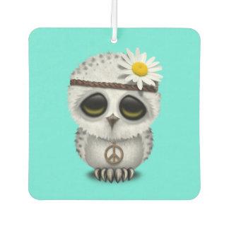 Cute Baby Snowy Owl Hippie Air Freshener