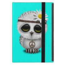 Cute Baby Snowy Owl Hippie Case For iPad Mini