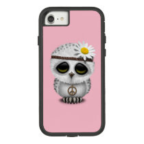 Cute Baby Snowy Owl Hippie Case-Mate Tough Extreme iPhone 7 Case