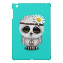 Cute Baby Snowy Owl Hippie Cover For The iPad Mini
