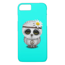 Cute Baby Snowy Owl Hippie iPhone 7 Case
