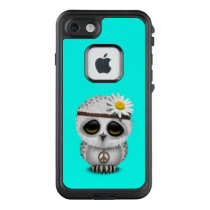 Cute Baby Snowy Owl Hippie LifeProof FRĒ iPhone 7 Case