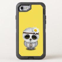 Cute Baby Snowy Owl Hippie OtterBox Defender iPhone 7 Case