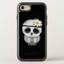 Cute Baby Snowy Owl Hippie OtterBox Symmetry iPhone 7 Case