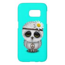 Cute Baby Snowy Owl Hippie Samsung Galaxy S7 Case