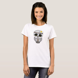 Cute Baby Snowy Owl Hippie T-Shirt