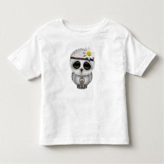 Cute Baby Snowy Owl Hippie Toddler T-shirt