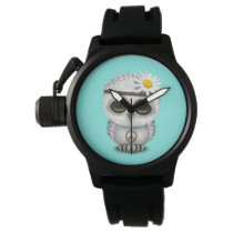 Cute Baby Snowy Owl Hippie Watch