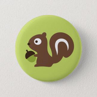 Cute Baby Squirrel Design Button