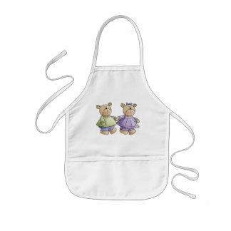 Cute Baby Teddy Bear Buddies Kids' Apron