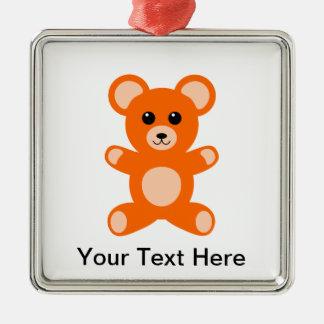 Cute Baby Teddy Bear Metal Ornament