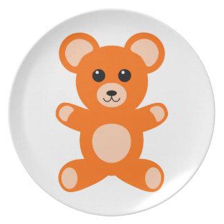 Cute Baby Teddy Bear Plate