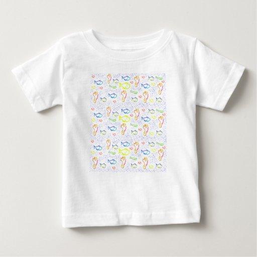 Cute baby tee shirt fish print zazzle for Fish print shirt