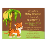 Cute Baby Tiger Baby Shower Invitation
