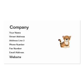 Cute Baby Tiger Business Card