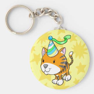 Cute Baby Tiger Cub Birthday  Key chain