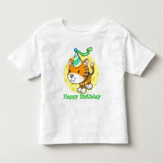Cute Baby Tiger Cub Happy Birthday  T-Shirt