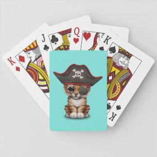 Cute Baby Tiger Cub Pirate Playing Cards