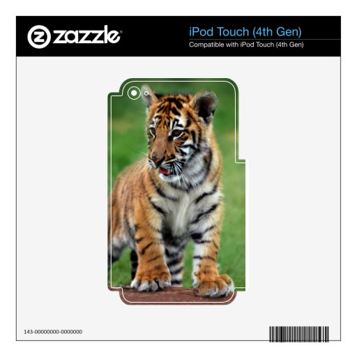 Cute baby Tiger cub Skins For iPod Touch 4G