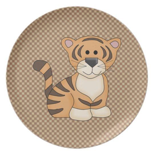 Cute Baby Tiger Melamine Plate